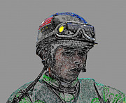 Jockey Digital Art - The Jockey by David Lee Thompson