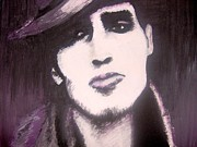 Red Hot Chili Peppers Paintings - The John Frusciante Portrait by Dora Szabolcsi
