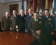 Uniforms Posters - The Joint Chiefs Of Staff Gather For An Poster by Everett