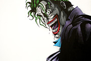 Heroes Paintings - The Joker by Antony Bagley