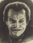 Comic Book Drawings Framed Prints - The Joker Framed Print by Cynthia Campbell