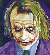 Heath Ledger Posters - The Joker Poster by Buffalo Bonker