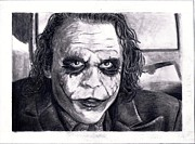 The Dark Knight Drawings - The Joker by Katelynn Johnston