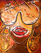 Big Lips Prints - The Journey through my Glasses Print by Artista Elisabet