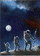 Outerspace Paintings - The Journeymen by Murphy Elliott