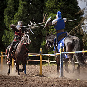 Joust Posters - The Joust D5466 Poster by Wes and Dotty Weber