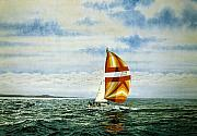 Realism Paintings - The Joy of Sailing by Conrad Mieschke