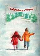 Selecting Painting Framed Prints - The Joy of Selecting a Christmas Tree Framed Print by Sharon Mick