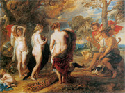 Fine Art  Of Women Paintings - The Judgement of Paris by Sir Peter Paul Rubens