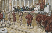 Tissot Painting Prints - The Judgement on the Gabbatha Print by Tissot