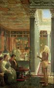 Roman Columns Painting Prints - The Juggler Print by Sir Lawrence Alma-Tadema