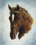 Horse Paintings - The Jumper by Cathy Cleveland