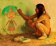 Kachina Posters - The Kachina Painter Poster by Pg Reproductions