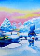 Kids Sports Art Originals - The Kayak Racer 1 by Hanne Lore Koehler