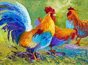 Hen Paintings - The Keeper by Marion Rose