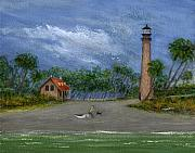 Cape Florida Lighthouse Art - The Keepers Friend by Gordon Beck