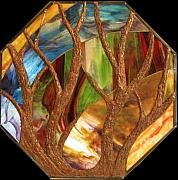Metal Glass Art - The kemp tree by Howard Mendelson
