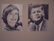 First-lady Drawings - The Kennedys by Dave LeBlanc