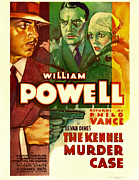 1930s Poster Art Photos - The Kennel Murder Case, William Powell by Everett