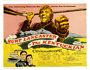 1950s Portraits Posters - The Kentuckian, Burt Lancaster, 1955 Poster by Everett
