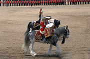 Uniforms Metal Prints - The Kettledrums Of Household Cavalry Metal Print by Andrew Chittock