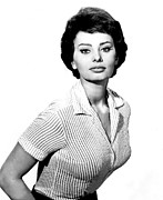 Loren Framed Prints - The Key, Sophia Loren, 1958 Framed Print by Everett