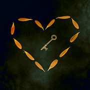 Heart-shaped Framed Prints - The Key To My Heart Framed Print by Joana Kruse