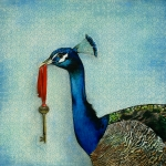 Blue Bird Framed Prints - The Key To Success Framed Print by Carrie Jackson