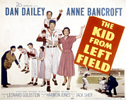 Movie Posters Framed Prints - The Kid From Left Field, Dan Dailey Framed Print by Everett