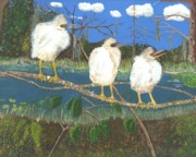 Stork Painting Framed Prints - The Kids Framed Print by William Demboski