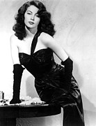 Bare Shoulder Framed Prints - The Killers, Ava Gardner, 1946 Framed Print by Everett