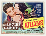 Ava Framed Prints - The Killers, Burt Lancaster, Ava Framed Print by Everett