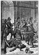 Colonial Man Framed Prints - The Killing Of Pizarro, 1541 Framed Print by Photo Researchers