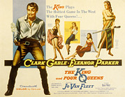 Clark Gable Framed Prints - The King And Four Queens, Clark Gable Framed Print by Everett