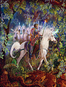 Unicorn Art Paintings - The King And I by Steve Roberts