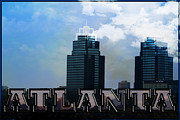 Kelly Digital Art Prints - The King and Queen Towers of Atlanta Print by Kelly Rader