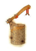 Firewood Posters - The King Axe Poster by Kestutis Kasparavicius