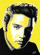 Elvis Presley Painting Originals - The King by Chris Cox
