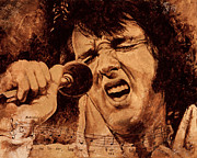 Elvis Presley Painting Metal Prints - The King Metal Print by Igor Postash