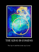 Religious Art Mixed Media Prints - The King is Coming Print by Suzanne Carter