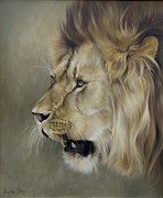 Africa Paintings - The King by Lucinda Coldrey