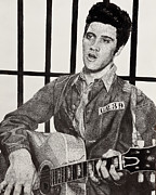 Jailhouse Rock Framed Prints - The KIng Framed Print by Mike  Haslam