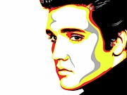 Elvis Presley Art Painting Originals - The King by Nathaniel Price