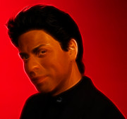 Fame Prints - The King of Bollywood - Shahrukh Khan - Shah Rukh Khan - Baadshah of Bollywood - King Khan -  Print by Lee Dos Santos