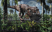 Food Chain Digital Art Posters - The King Of Killers, Tyrannosaurus Rex Poster by Mark Stevenson
