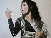 Michael Jackson Painting Originals - The King of Pop by Amanda Burek