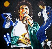 Jean Painting Framed Prints - The King of Pop Michael Jackson Framed Print by Ronald Young