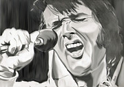 Elvis Presley Art - The King of Rockn Roll by Erwin Verhoeven