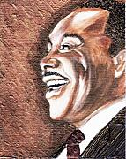 Keenya Woods Mixed Media Originals - The King Smiles by Keenya  Woods