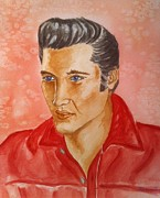 Elvis Portrait Paintings - The King by Stephanie Reid